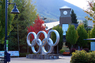 Olympic rings in Whistler Village 2010 Olympics