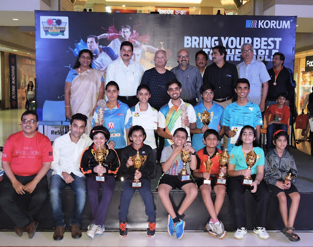 Winners of the Table Tennis tournament at KORUM Mall