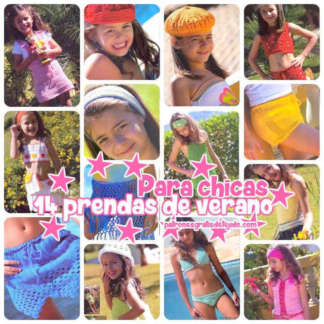 revista-ropa-de-verano-tejida-crochet-para-niñas