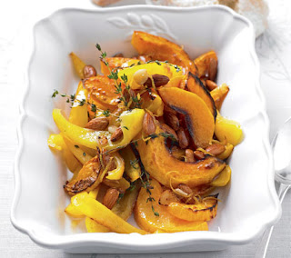 Butternut Squash with Peppers and Almonds Recipe