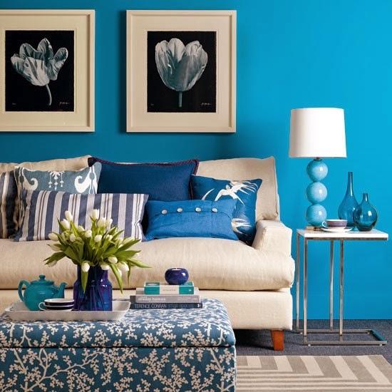 Salas azules salas con estilo for Adornos decorativos