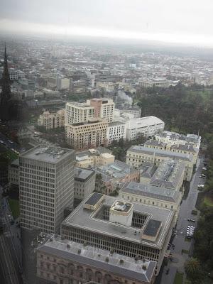 Vistas de Melbourne desde la planta 35 del Sofitel Hotel