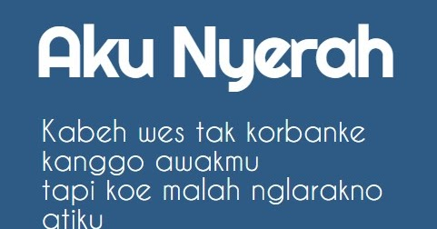 Kata Kata Galau Bahasa Jawa