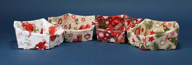 Kosze ozdobne prezentowe z motywem świątecznym 4