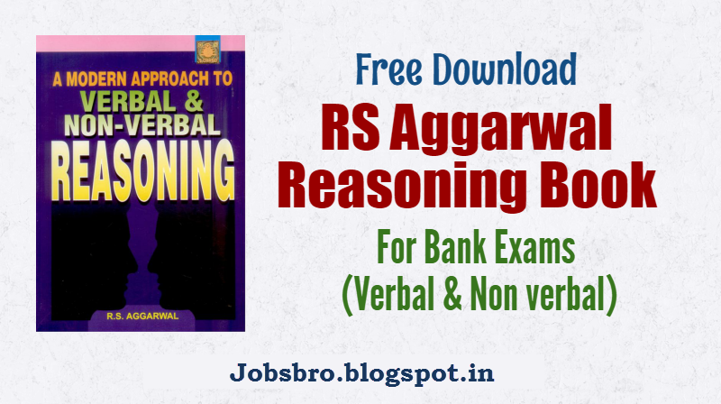 RS Aggarwal Reasoning Book Free Download pdf - All Jobs Updates