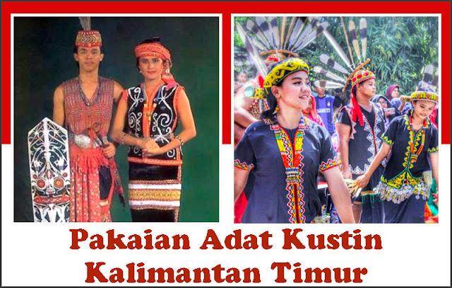 Gambar Pakaian Adat Kustin Kalimantan Timur