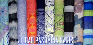 jilbab pashmina sifon dan paris motif terbaru harga murah