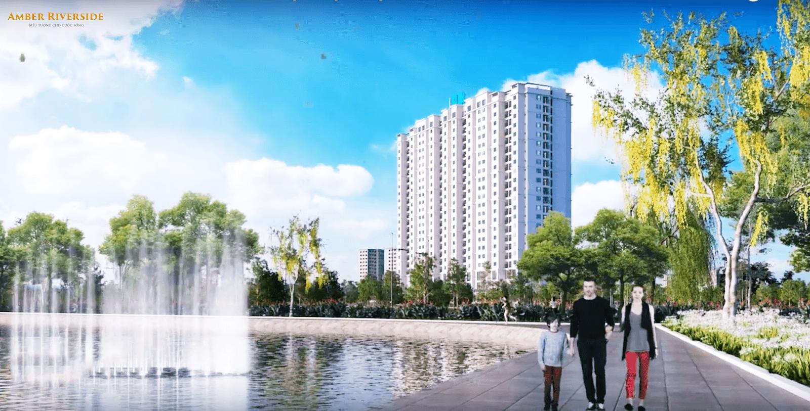 Không gian sống đẳng cấp chung cư Amber Riverside Minh Khai