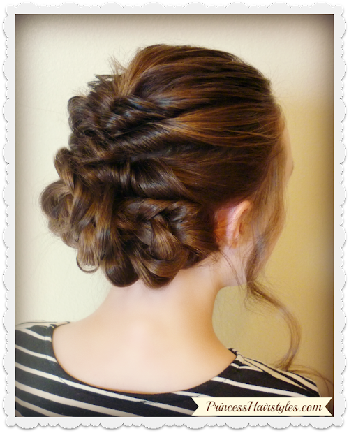 prom & wedding hairstyle romantic