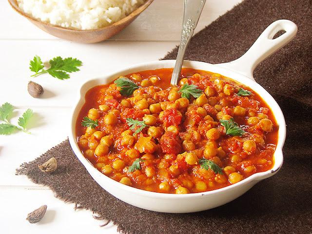 Curry indien bio de pois-chiches - le carnet sur l'étagère