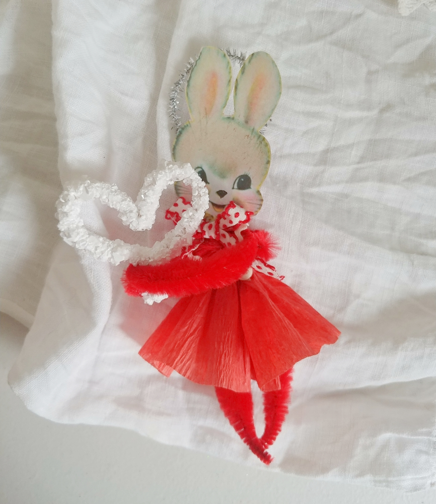 pipe cleaner bunny valentine