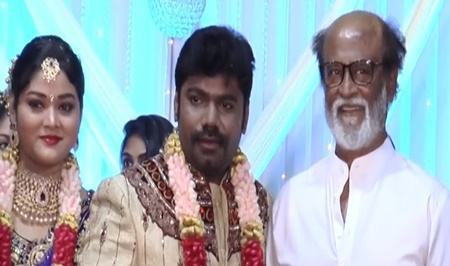 SuperStar RajiniKanth@Jaguar Thangam son Vijaya Jaguar's wedding Reception