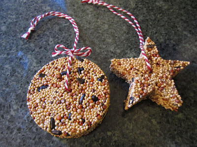 Creative savv december 2016 i had mentioned making some birdseed ornaments last week there are a few different recipes for these ornaments i tried two both worked well solutioingenieria Image collections