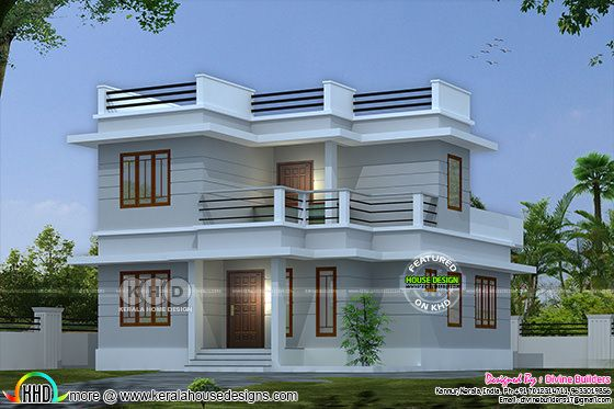 ₹20 lakhs cost estimated modern home 1211 sq-ft