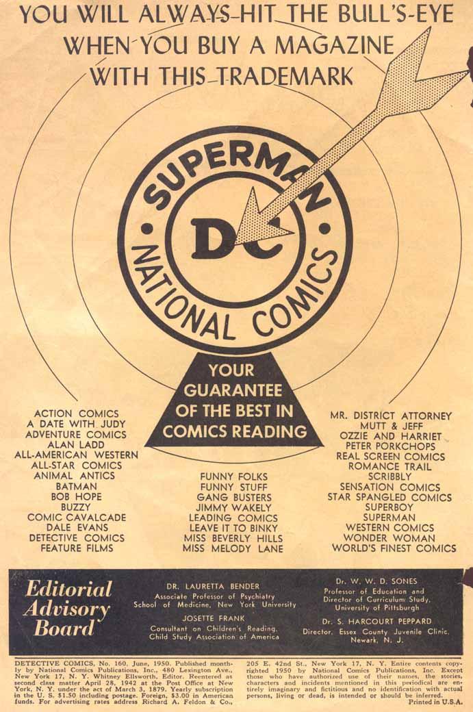 Read online Detective Comics (1937) comic -  Issue #160 - 2