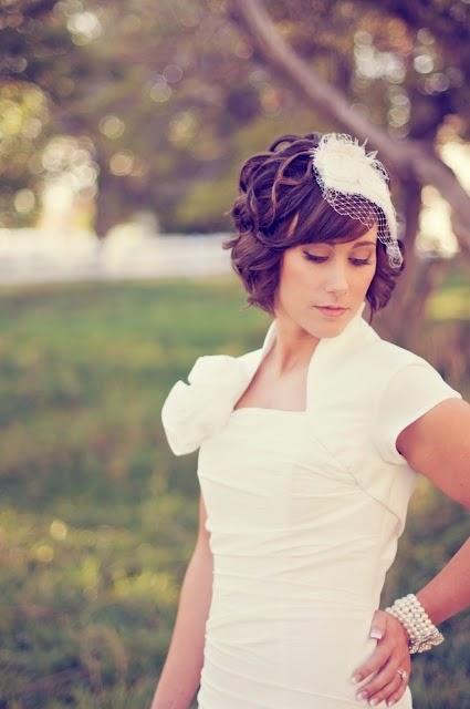 Pozytywne Inspiracje ślubne Fryzury ślubne Krótkie Włosy