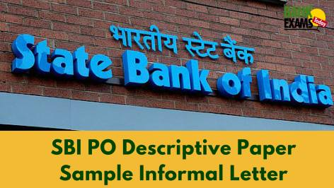sample informal letter for sbi po descriptive paper bank exams today sbipo