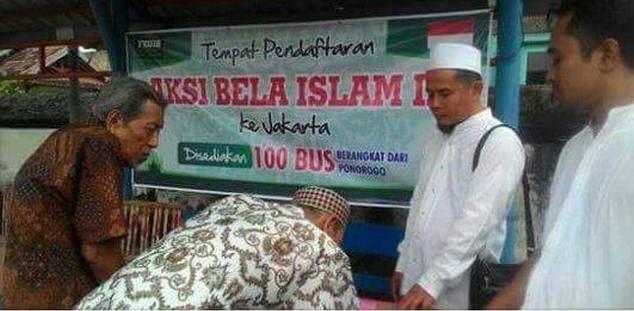 Pendaftaran Relawan Aksi Bela Islam Jilid III dari Ponorogo