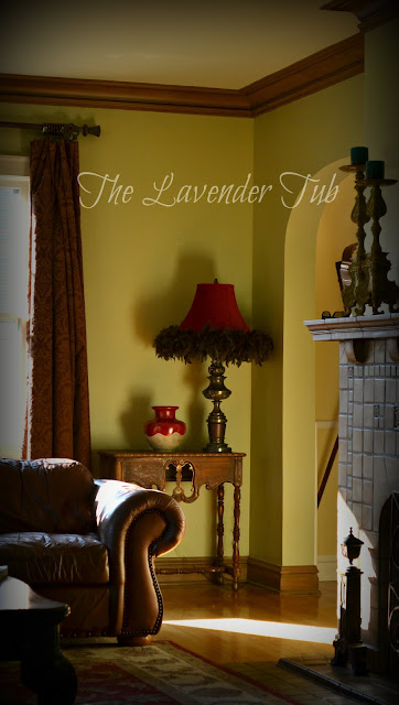 The Lavender Tub Recovered Bell Lampshade With Boa