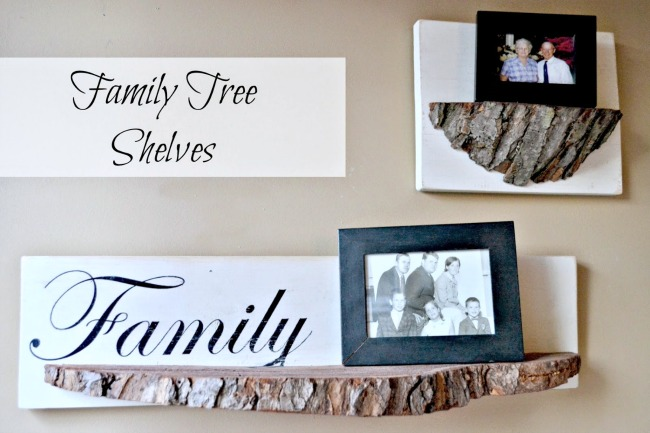 Repurposed DIY Tree Slice Shelves