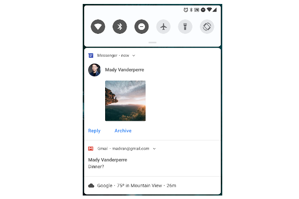 Google releases Android P Developer Preview 1 - Improved messaging notifications