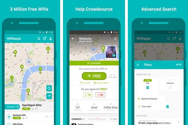 أفضل 3 تطبيقات اندرويد للحصول على باسووردات نقاط الواي فاي مجانا ..