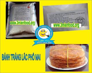 Nguyên liệu bánh tráng lắc phomai