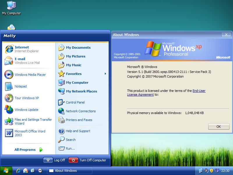 Windows  Home X Service Pack
