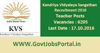 Kendriya Vidyalaya Sangathan Recruitment 2016