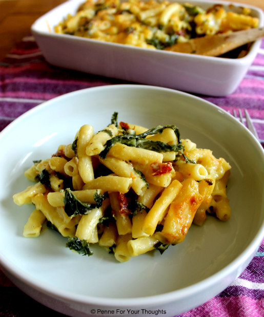 Macaroni Cheese with Kale & Sundried Tomatoes