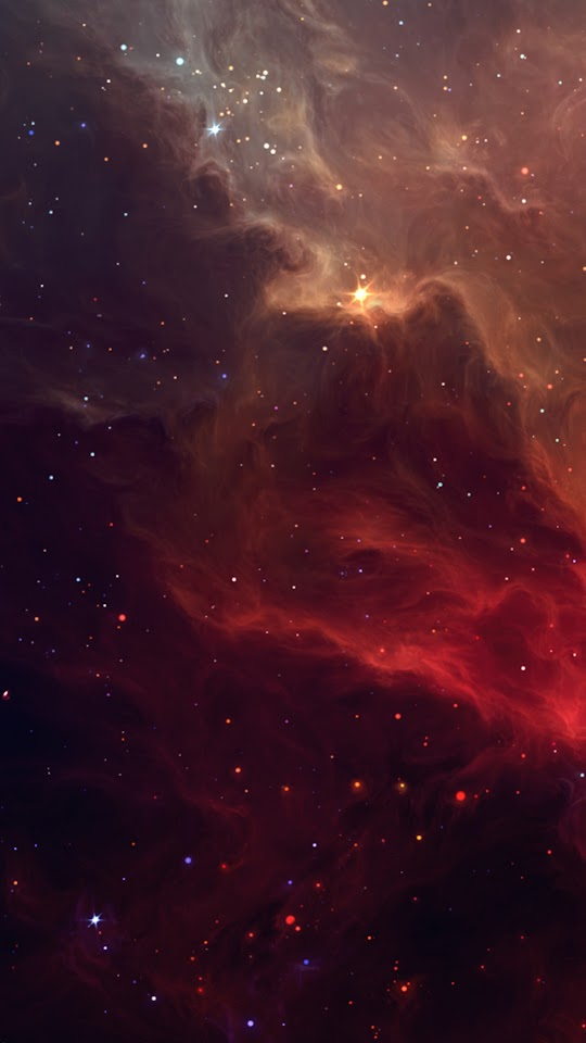 Red Galactic Nebula  Galaxy Note HD Wallpaper