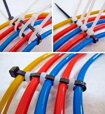 Um modo baratinho de organizar fios em casa e de jeito bem fácil
