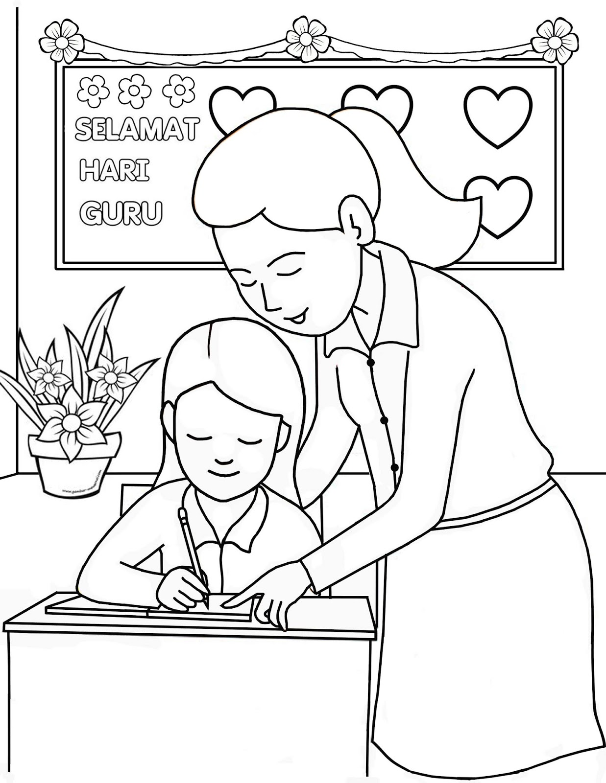 Gambar Guru Mengajar Hari Wwwtollebildcom