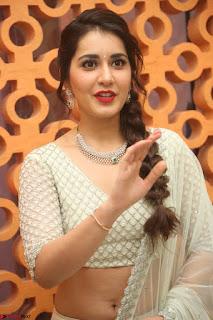 Raashi Khanan looks stunning in Crop Top Deep neck Choli Ghagra Transparent Chunni WOW ~  Exclusive Celebrities Galleries 085.JPG