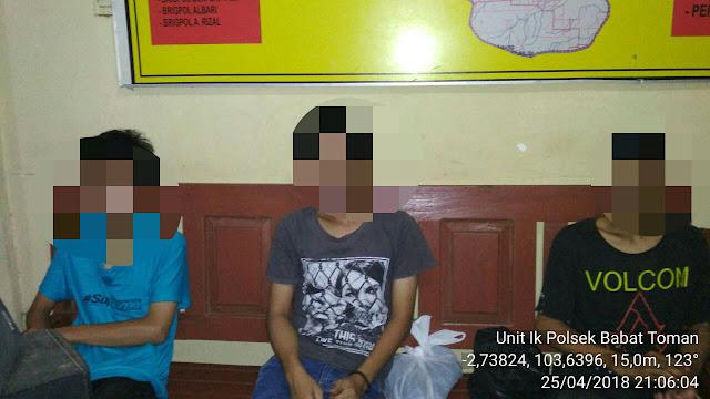 Konsumsi Shabu, Tiga Remaja Di Musi Banyuasin Diringkus Kepolisian