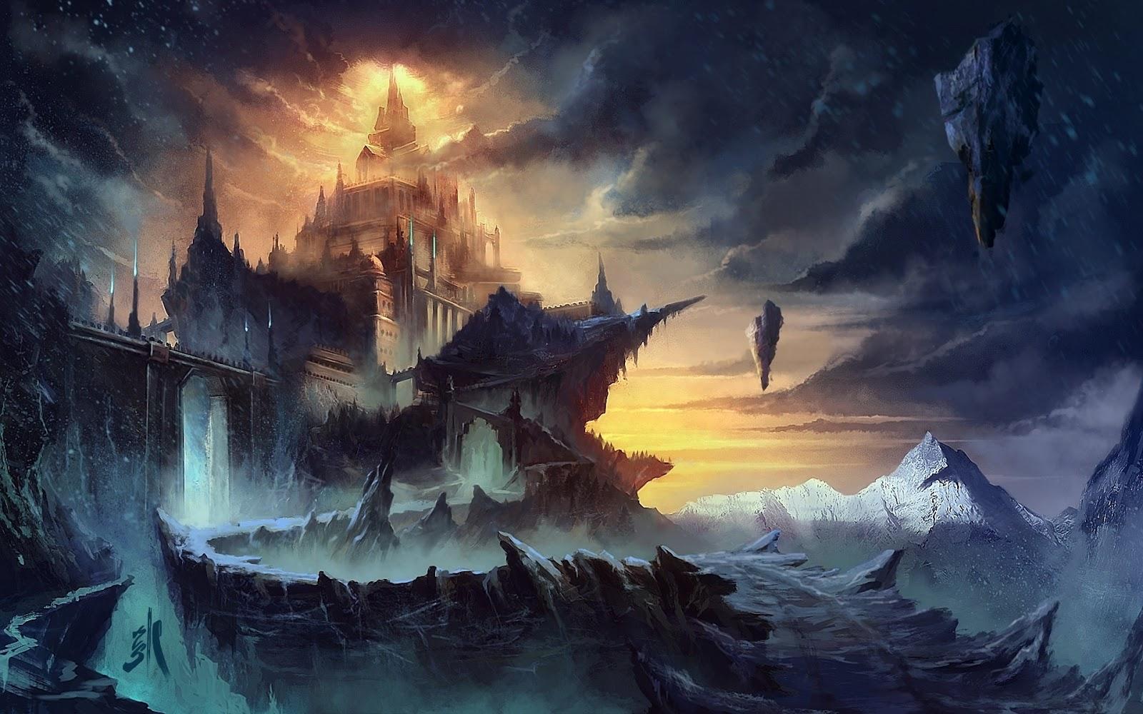 Imaginary Fantasy Castle HD Wallpaper