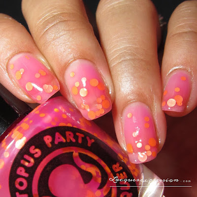 nail polish swatch of Discotech by indie polish maker Octopus party nail lacquer OPNL