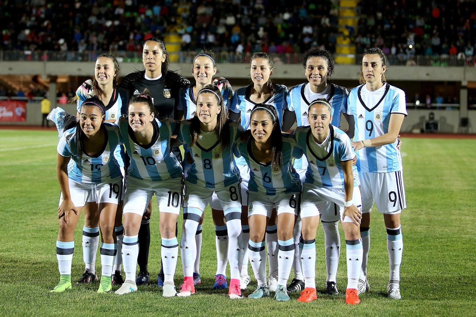 Formación de selección femenina de Argentina ante Chile, amistoso disputado el 24 de octubre de 2017