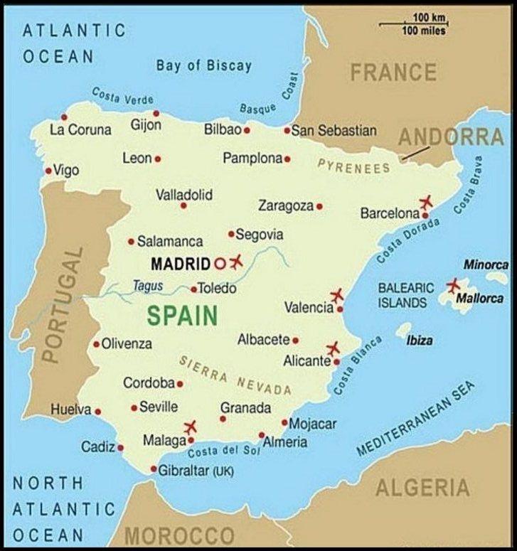 Map Of Spain Time Zones.Map Of Spain Time Zones Twitterleesclub