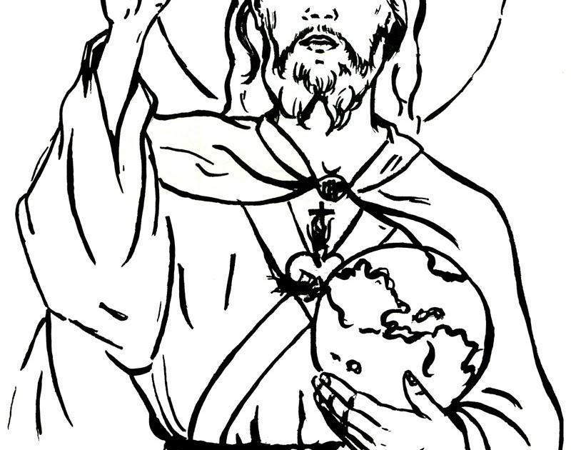 Colorir Imagens Coração Para Colorir: Catequese Com Carinho: Sagrado Coração De Jesus (desenhos