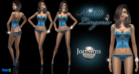 Nisette lingerie click image to download women's clothing area on http://www.jomsimscreations.fr WEBSITE