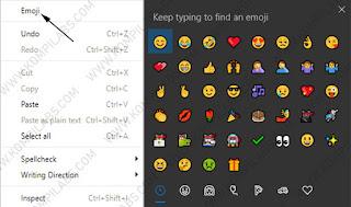 Cara mengaktfikan Emoji di context menu pada Google Chrome