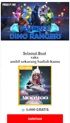 Script Phising Dino Rangers Viral Free Fire Indonesia Terbaru
