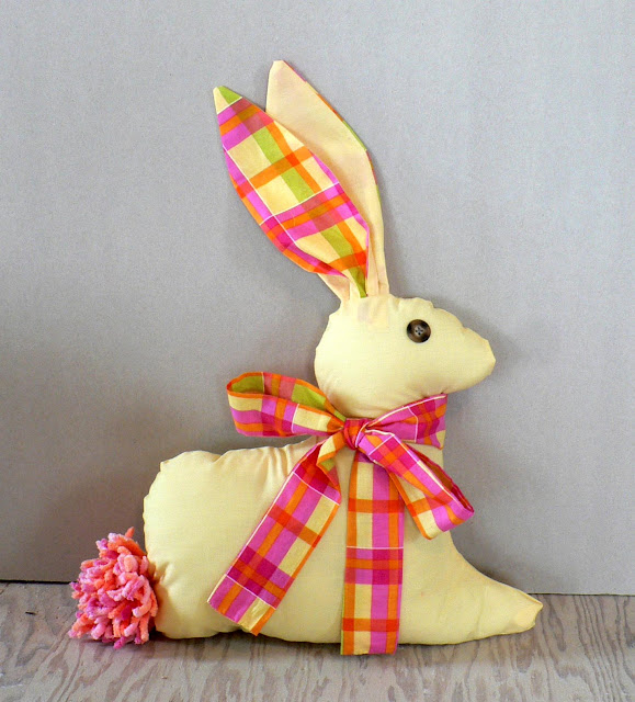 sewn rabbit, fabric bunny