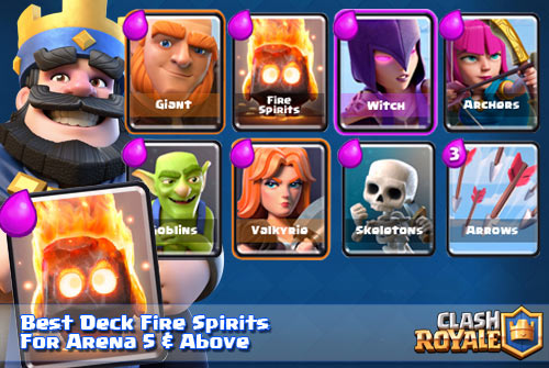 Strategi Deck Terbaik Fire Spirits Arena 5 6 7 8 9 Clash Royale