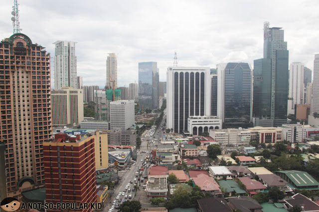 Morning city view of Makati City, Philippines