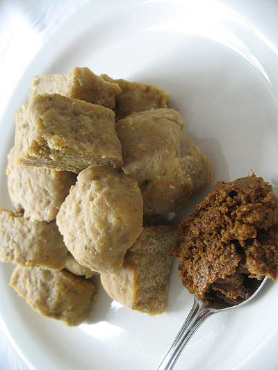 chickpea flour dumplings