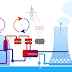 Nuclear power plant with pressurized water reactor.
