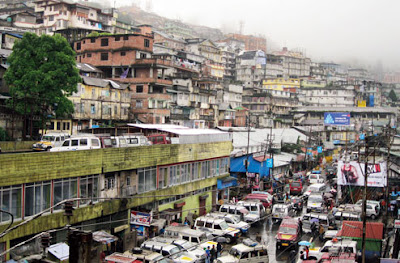 traffic system in Darjeeling town