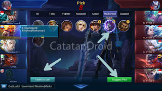Cara Quick Chat Banned Hero Draft Pick Mobile Legends Bang Bang